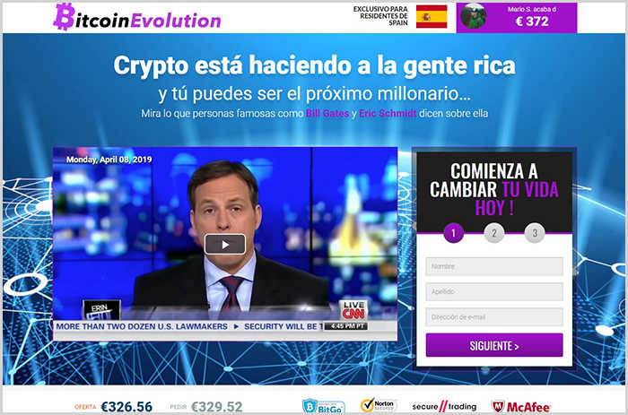 Bitcoin Trader es una copia de Bitcoin Evolution